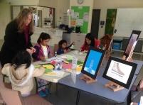 Christina (Art Tutor) providing Kids Art Activity
