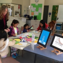 Christina (Art Tutor) providing Kids Art Activity