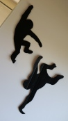 Monkey silhouettes adorned the walls