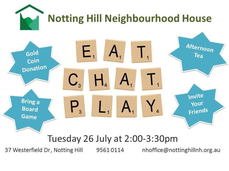 Eat Chat Play 26 July Print