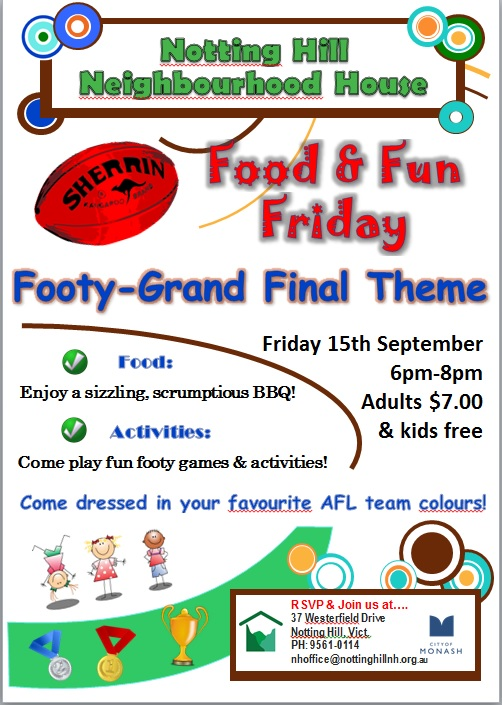 Food and Fun Friday 15-9-17 Flyer