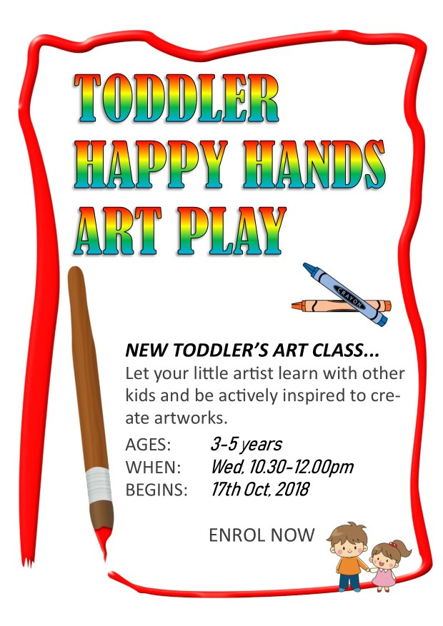 Toddler's Happy Hand Art Class Poster